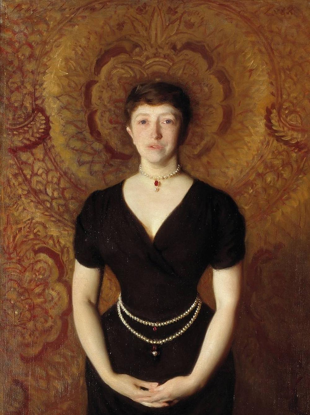 Isabella Stewart Gardner Portrait by John Singer Sargent, on view in the Gothic Room