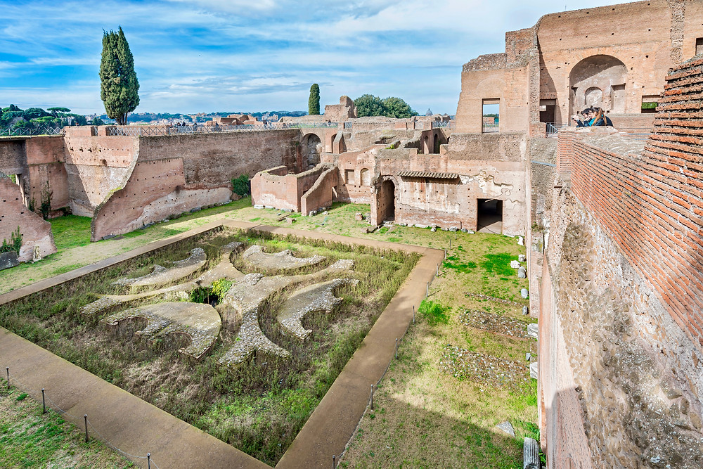 remains of Domitian's Palace and the Fountain of Domitian