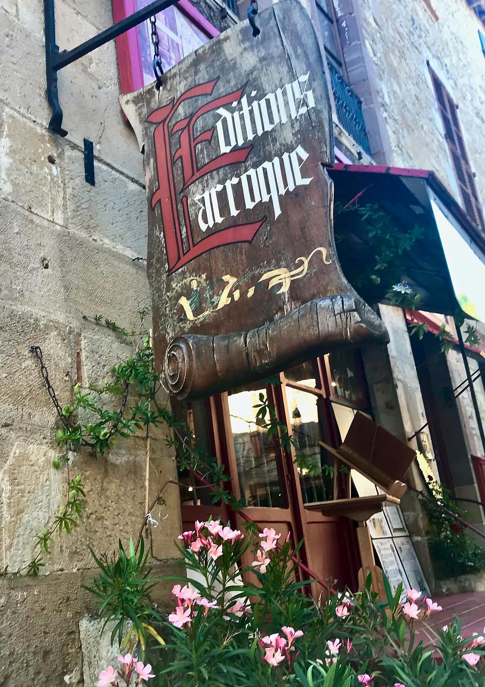 a bookstore in Cordes Sur Ciel