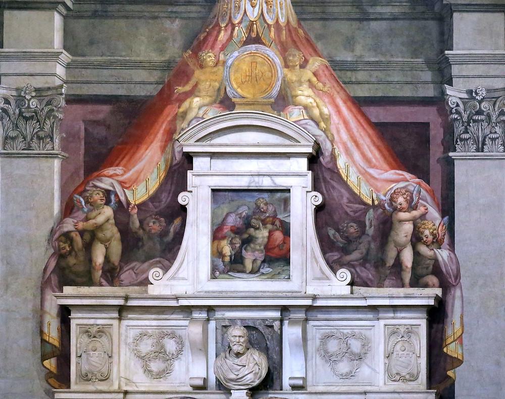 Giorgio Vasari, Michelangelo's Tomb in Sana Croce, 1564-74