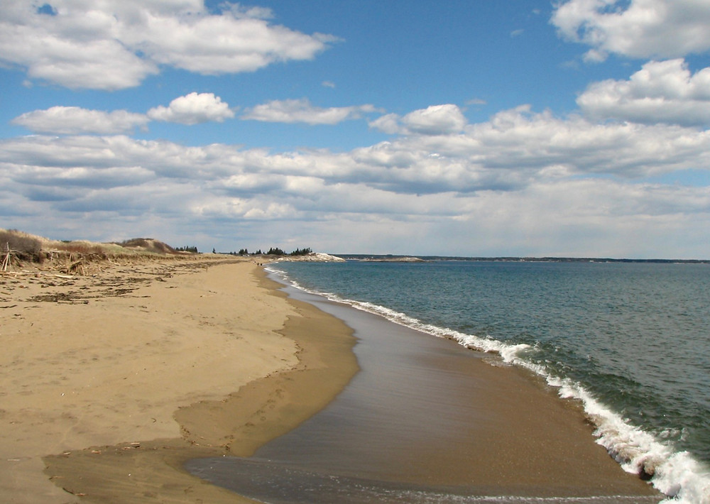 Mile Beach at Reid State Park in Maine