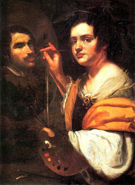 Artemisia Gentileschi, Self Portrait, 1637