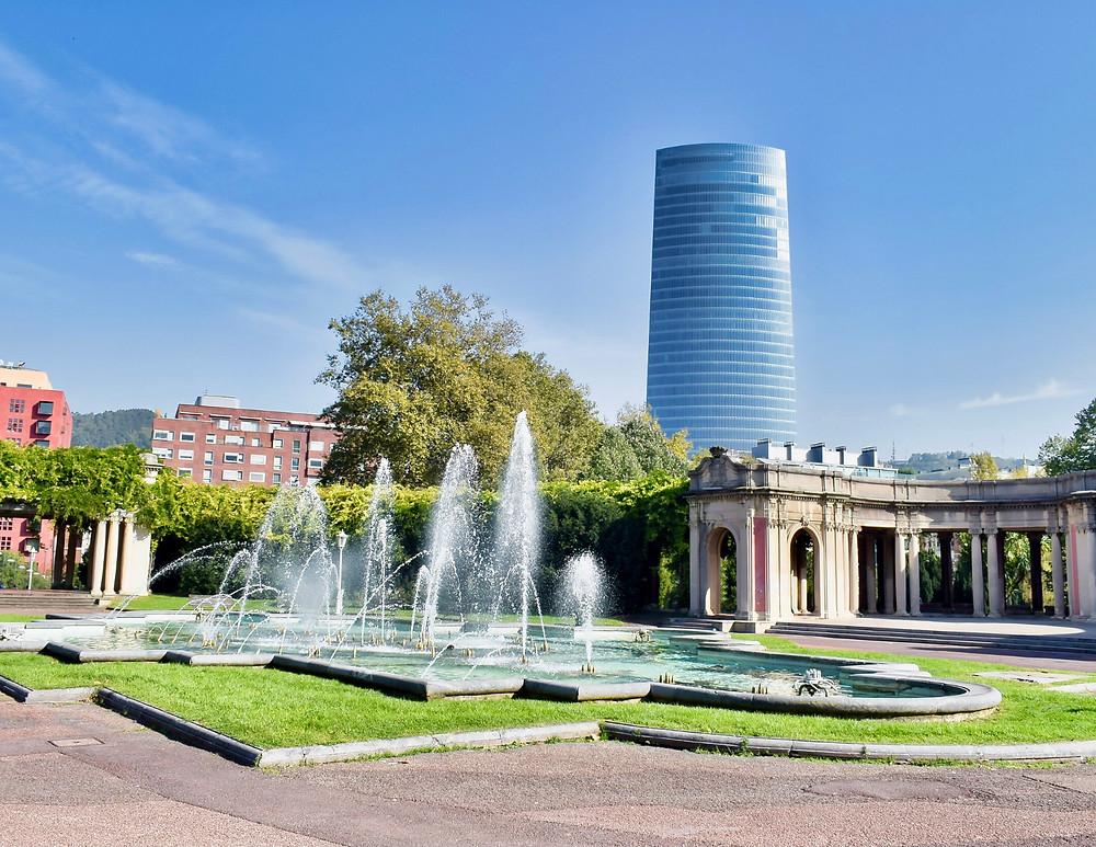 fountain in Dona Casilda Iturrizar Park