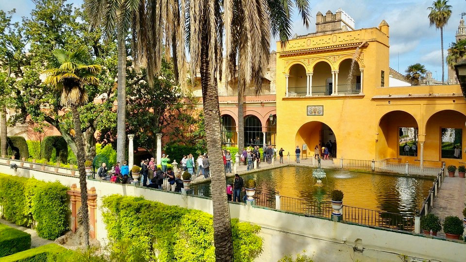 the Mercury Pool in the Alcazar Gardens
