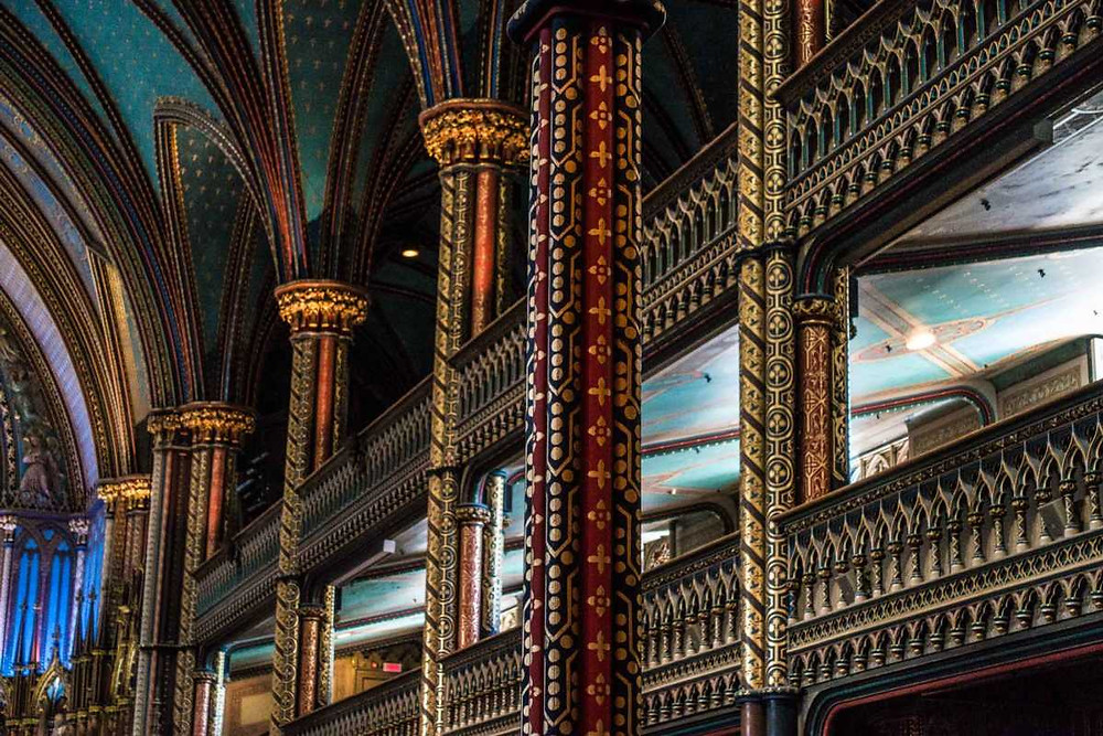 beautifully painted and gilded columns