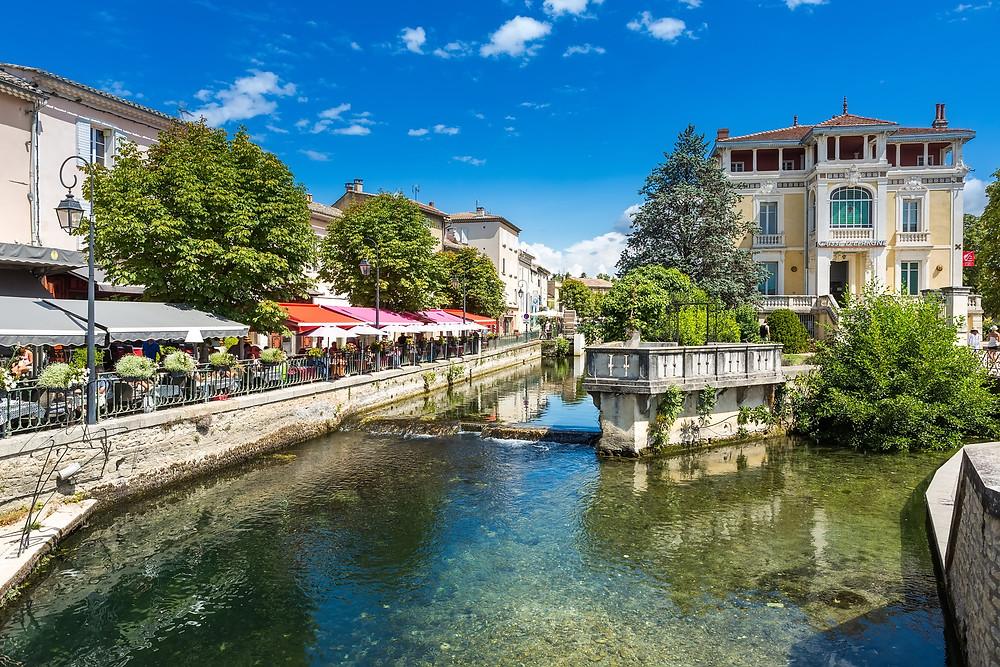 the market town of Isle sur la Sorgue