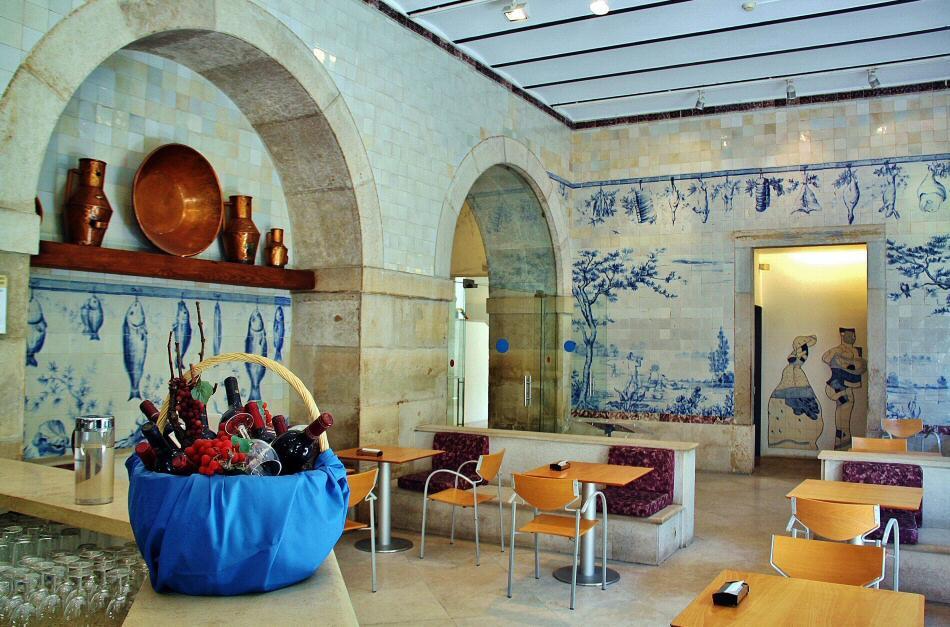 cafe at Lisbon's National Tile Museum