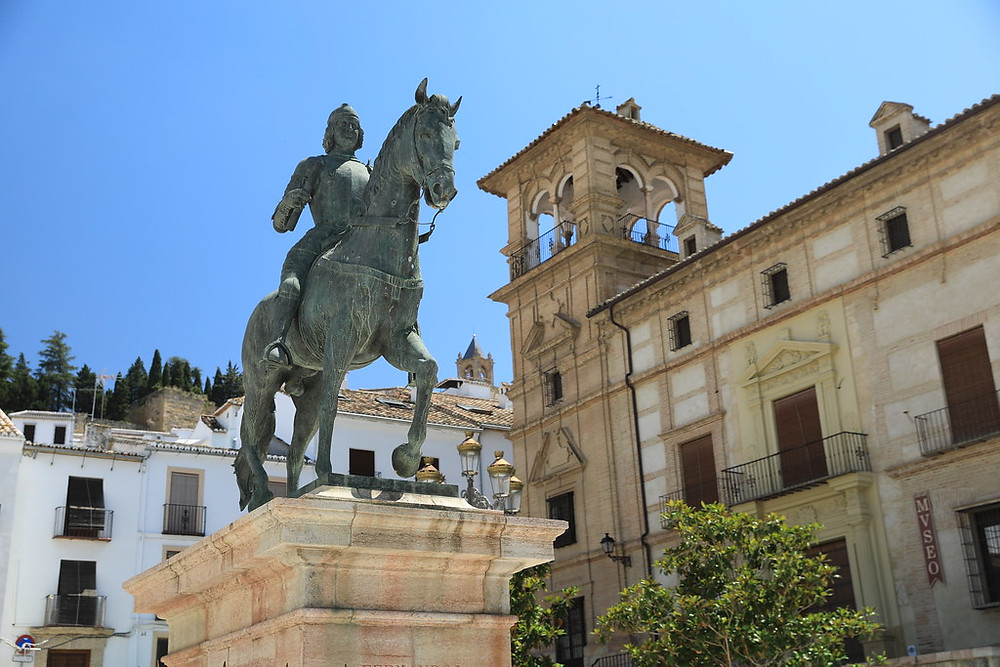Equestrian Statue of Ferdinand I, King of Aragon in Antequera Spain