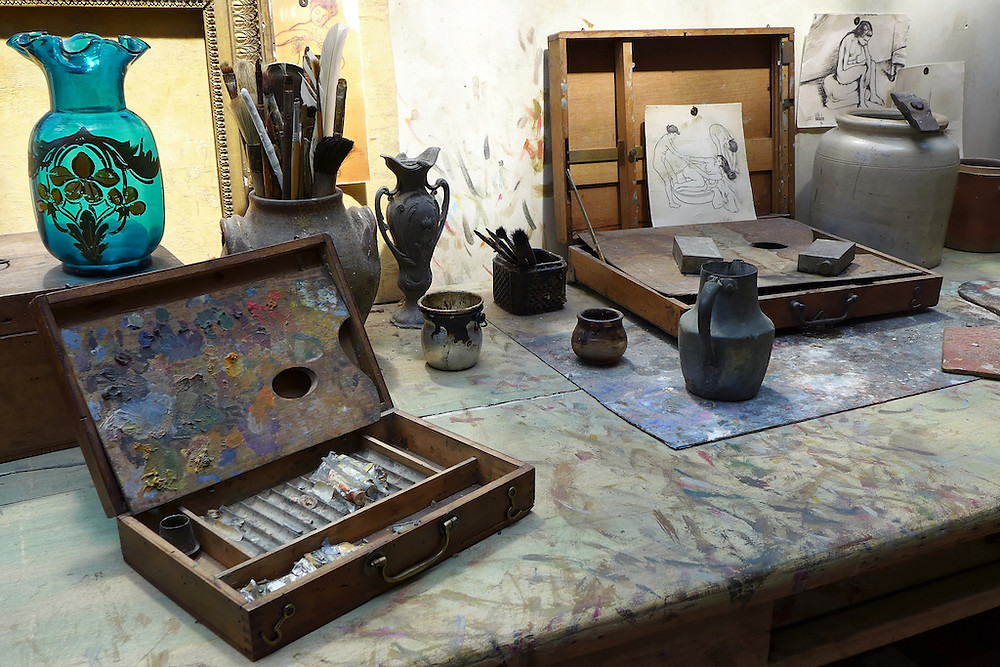 replica of the studio of Valadon and her son Marcus Utrillo