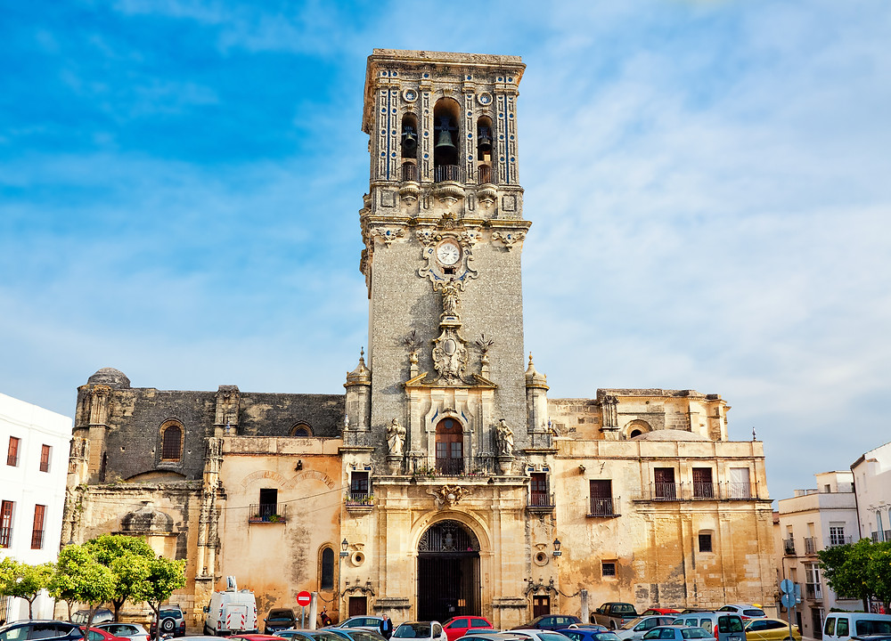 the bell tower of San Pedro Church in Arcos de la Frontera
