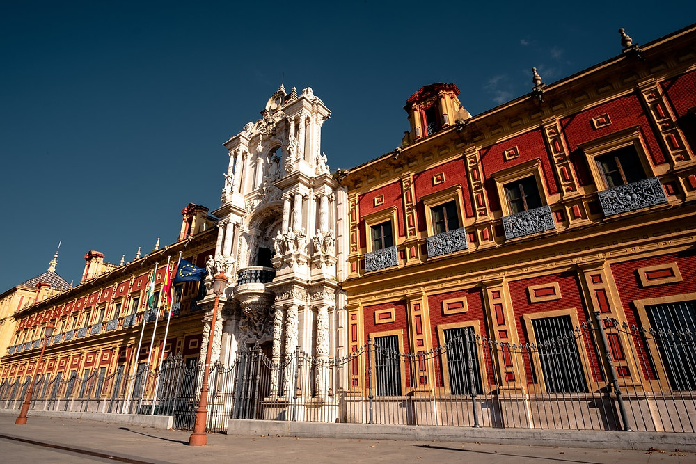 Palacio de San Telmo, a government building in Seville Spain