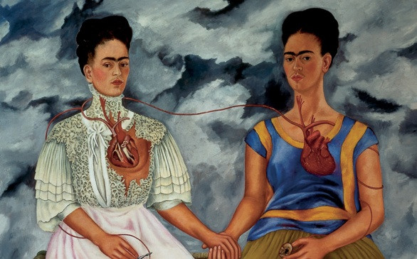 Frida Kahlo, The Two Fridas, 1939 -- at LACMA in Los Angeles