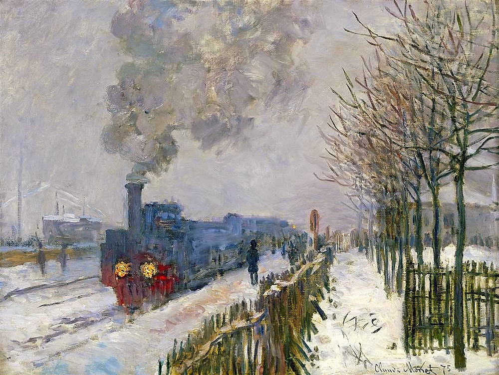 Monet, Train in the Snow, the Locomotive, 1875
