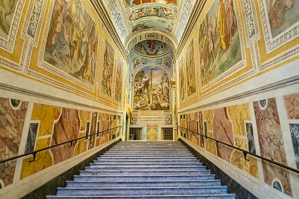 the Holy Stairs, a pilgrimage site