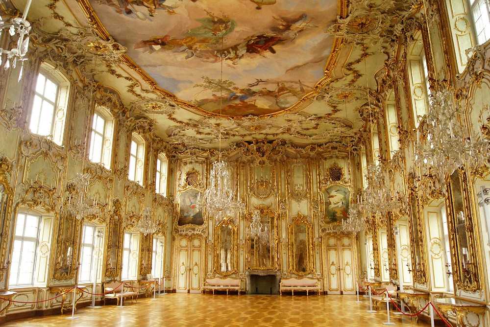 "the glittering ""Ball Hall"" in Schaezlerpalais in Augsburg"