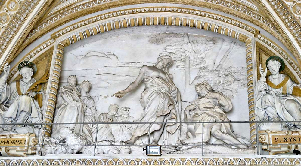 Bernini's bas relief, Feed My Sheep