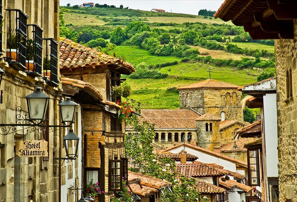 the medieval village of Santillana del Mar ib Cantabria Spain