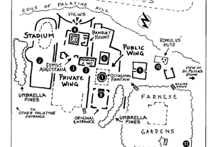 a rough map of Palatine Hill by Rick Steves