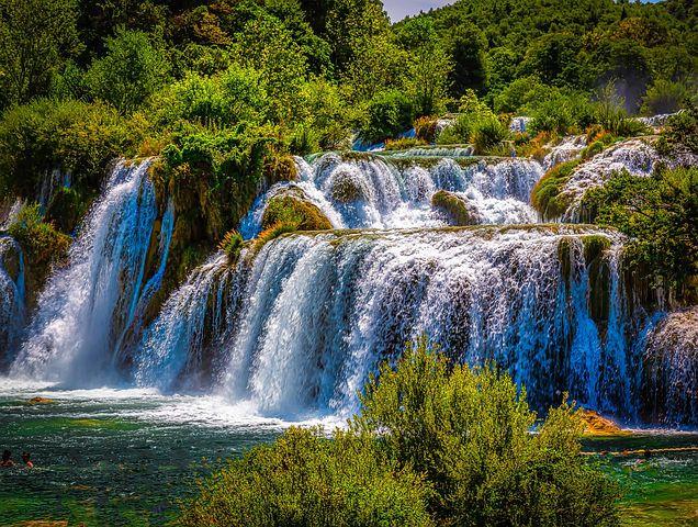 waterfall cascade at Krka Park