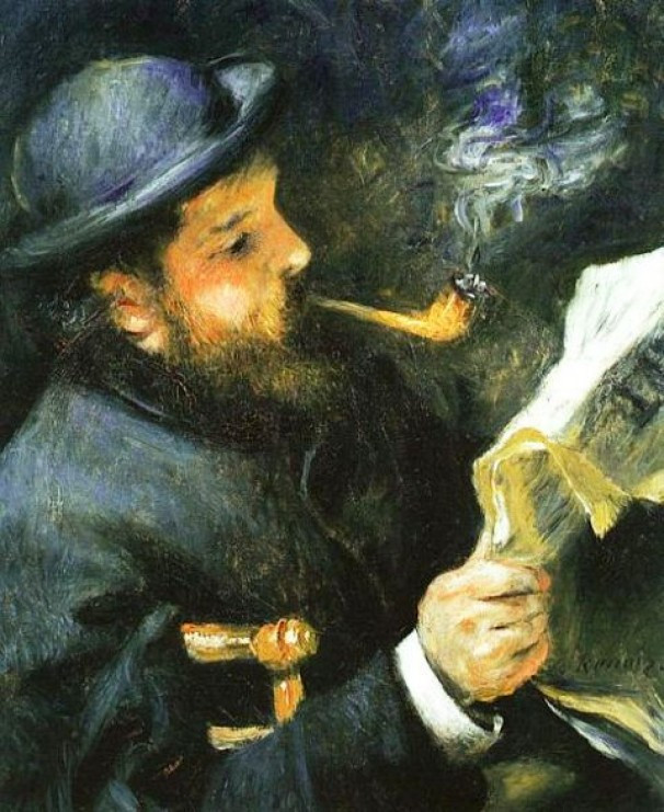 Renoir, Monet That Reads, 1868
