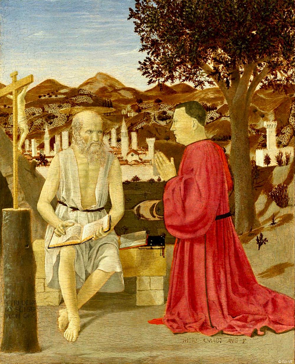 Piero della Francesca, St. Jerome and a Donor, 1451
