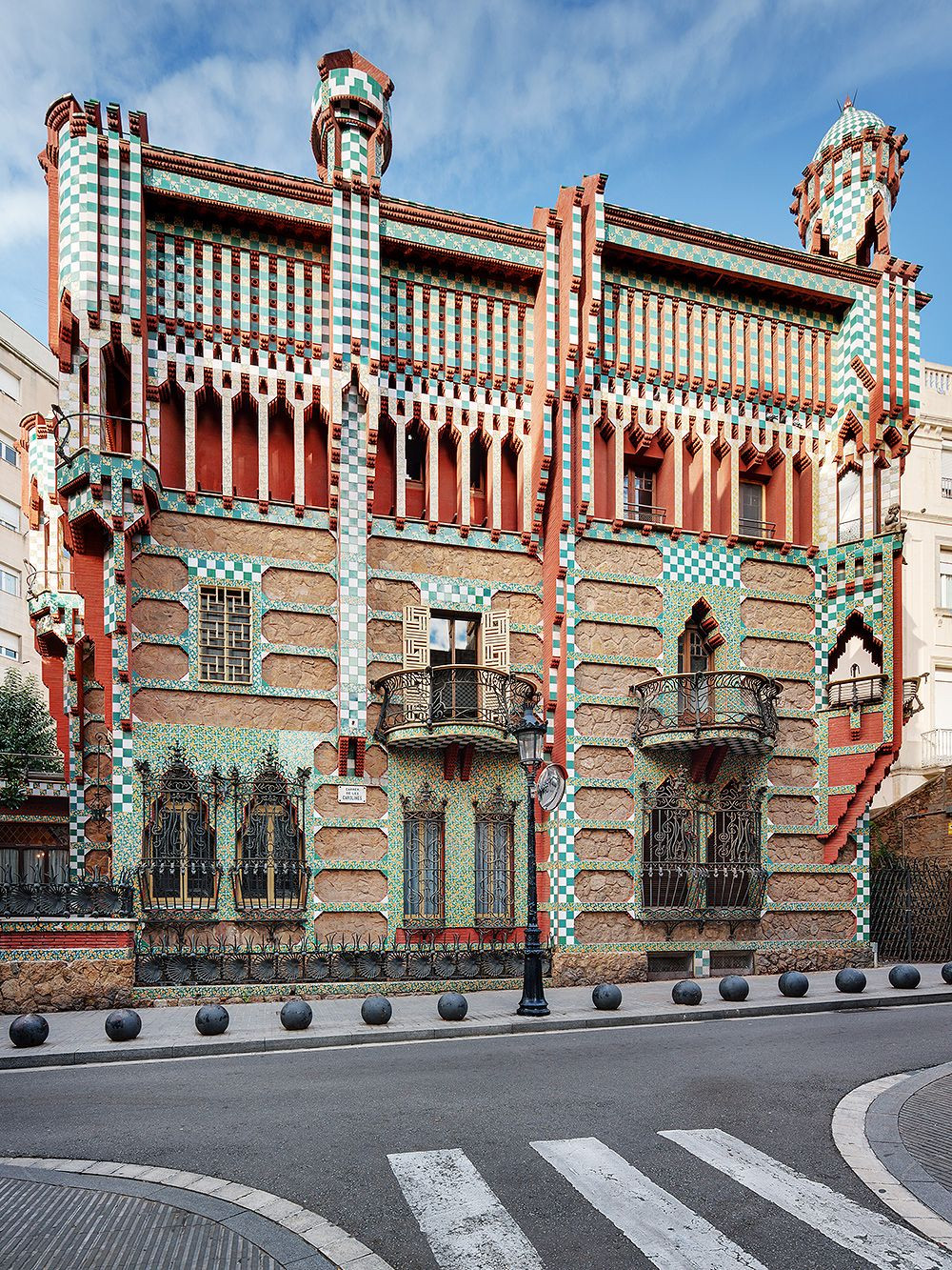 the exterior of Casa Vicens in Barcelona