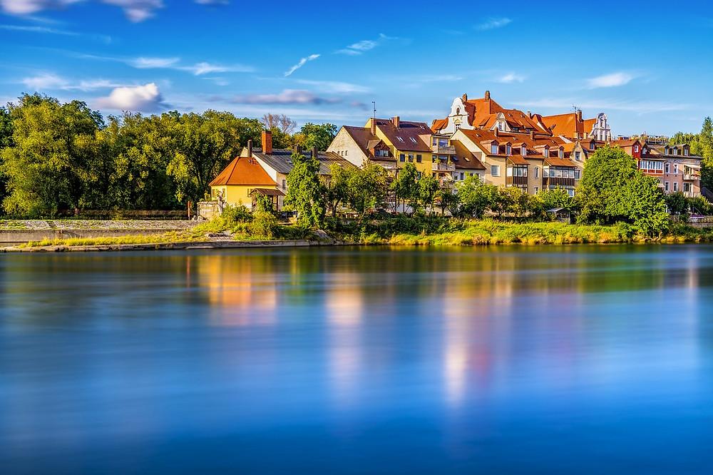Regensburg on the Danube River