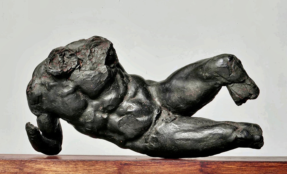a model of Michelangelo's River God, which was intended for the Medici Chapel