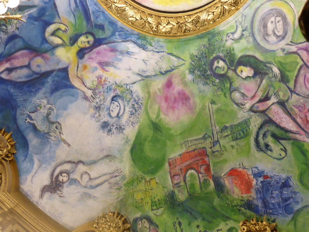 detail from Chagall Ceiling in the auditorium of the Paris Opera