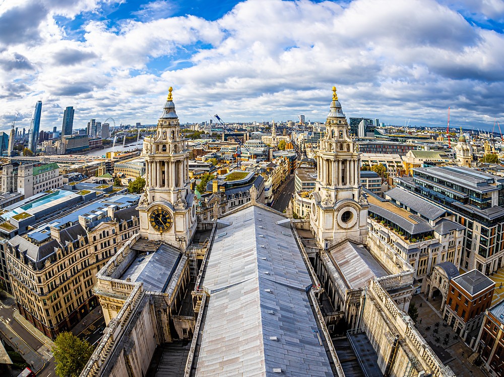 view from the rooftop of St. Paul's Cathedral