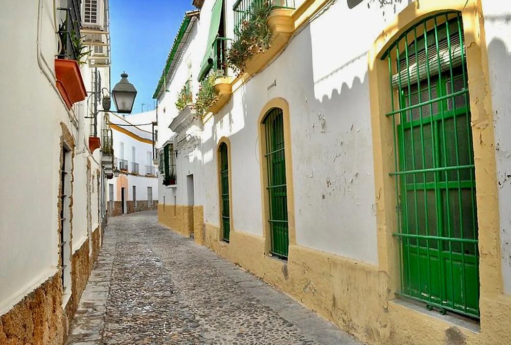 pretty lane in Jerez de la Frontera