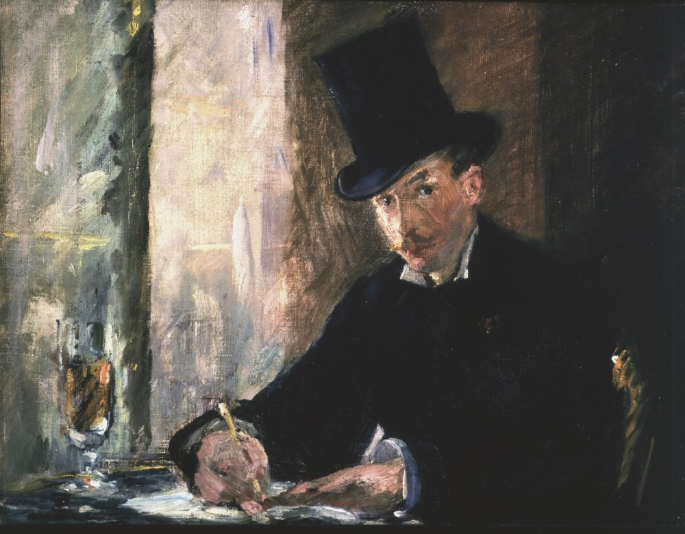 the stolen painting Chez Tortoni, 18975, by Edouard Manet
