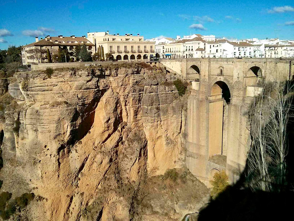 view of the Puente Nuevo in Ronda