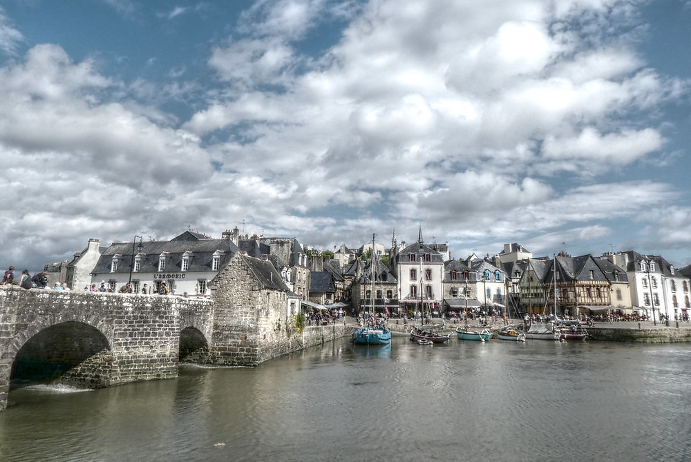 the port town of Auray in Brittany France