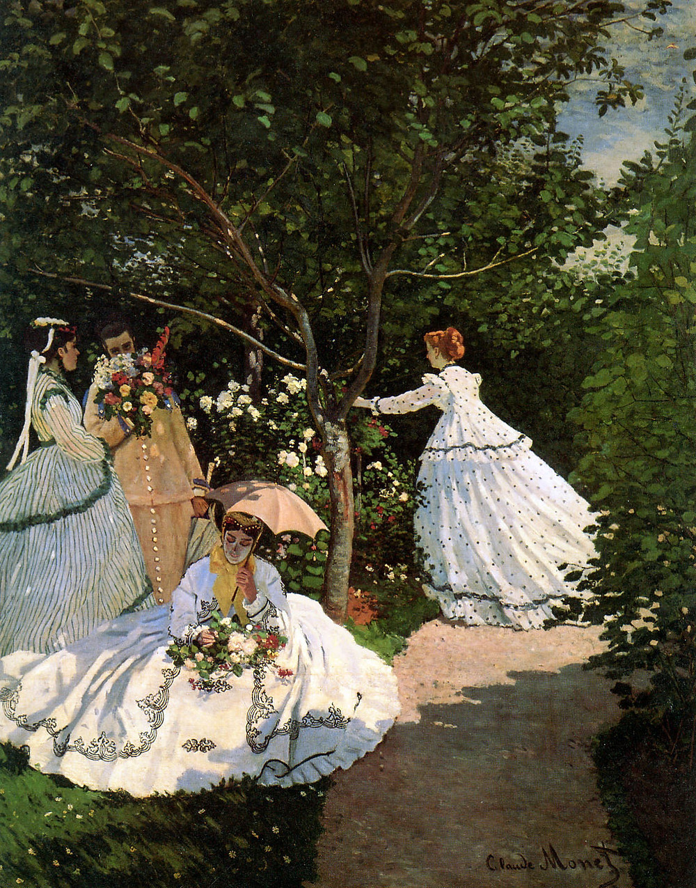Monet, Woman in the Garden, 1866 -- in the Musee d'Orsay
