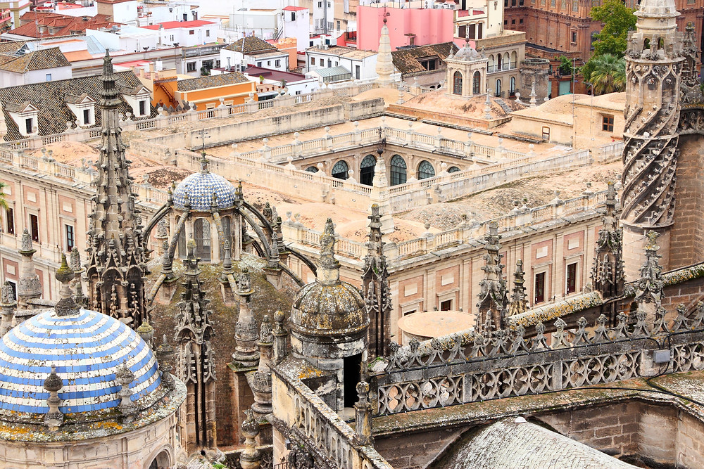 view form the rooftops of Seville Cathedral