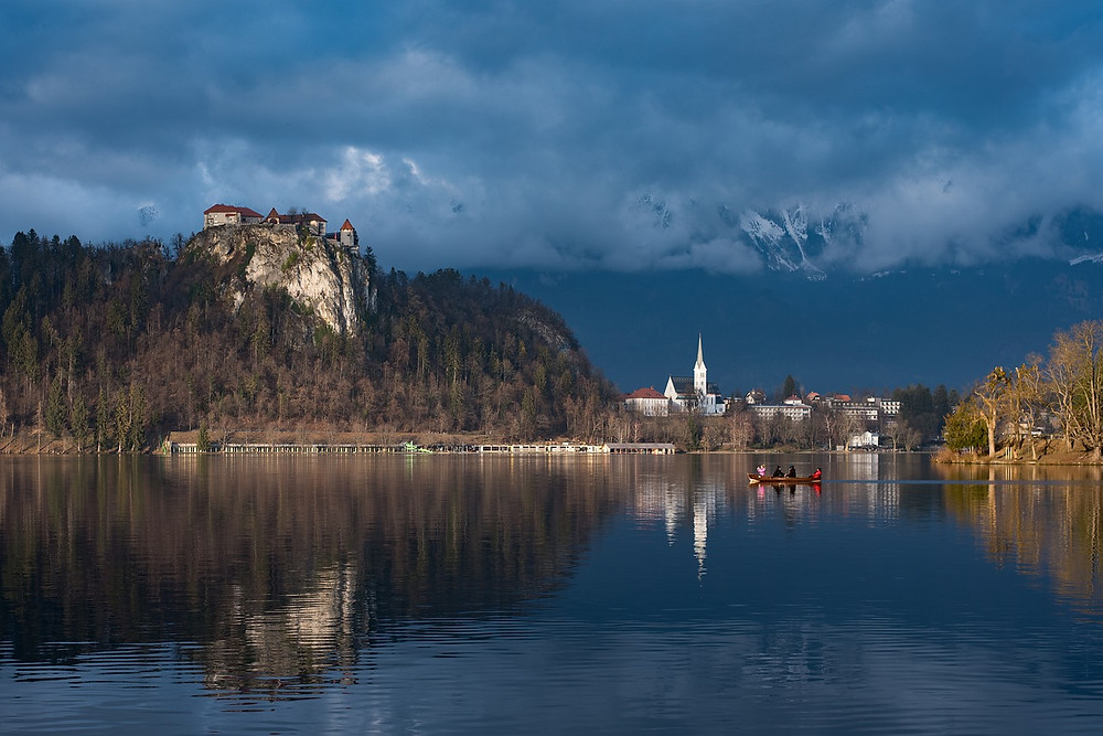 Lake Bled Slovenia and its cliff hanging medieval castle