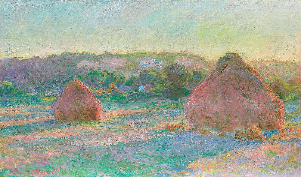 Monet, Stacks of Wheat, End of Summer, 1890–1891