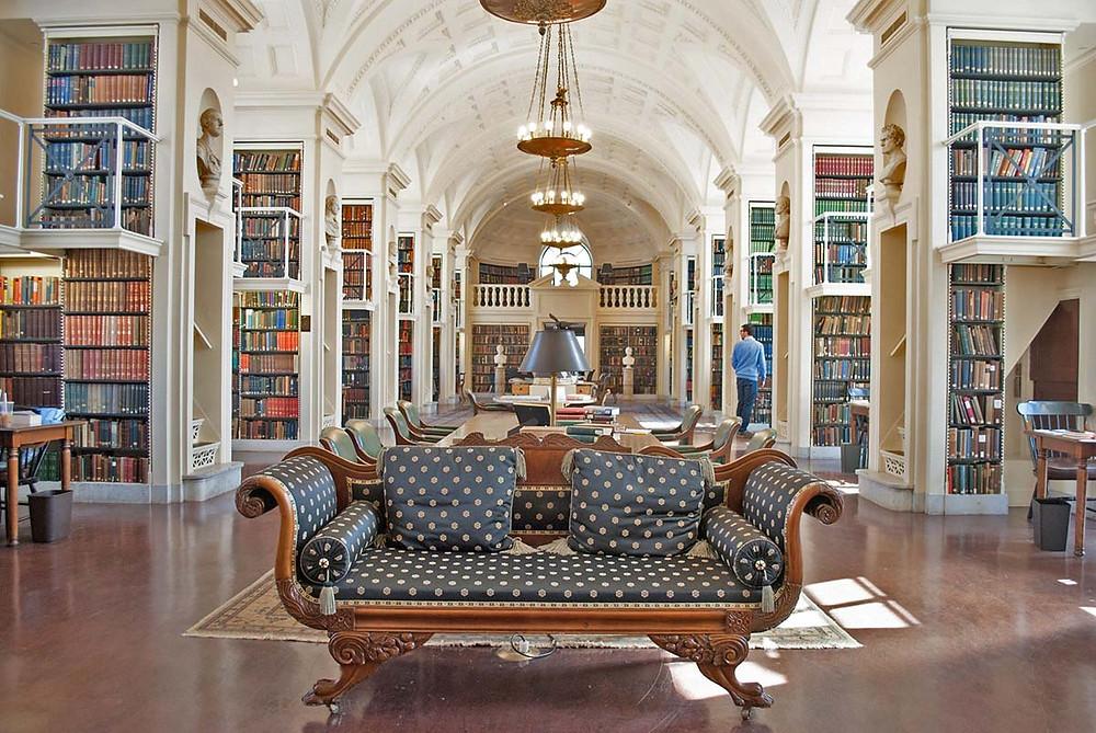 Boston Athenaeum 5th floor reading room
