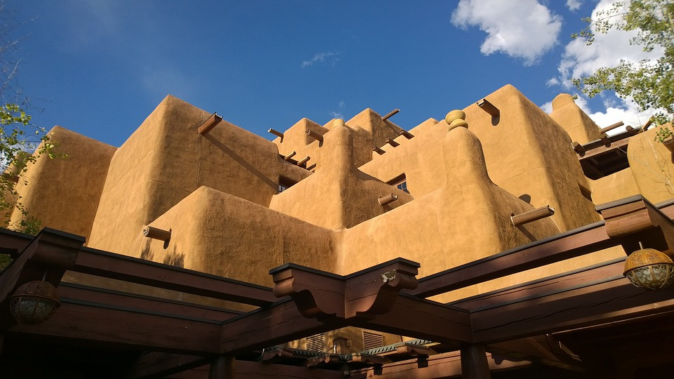 adobe architecture in Santa Fe New Mexico