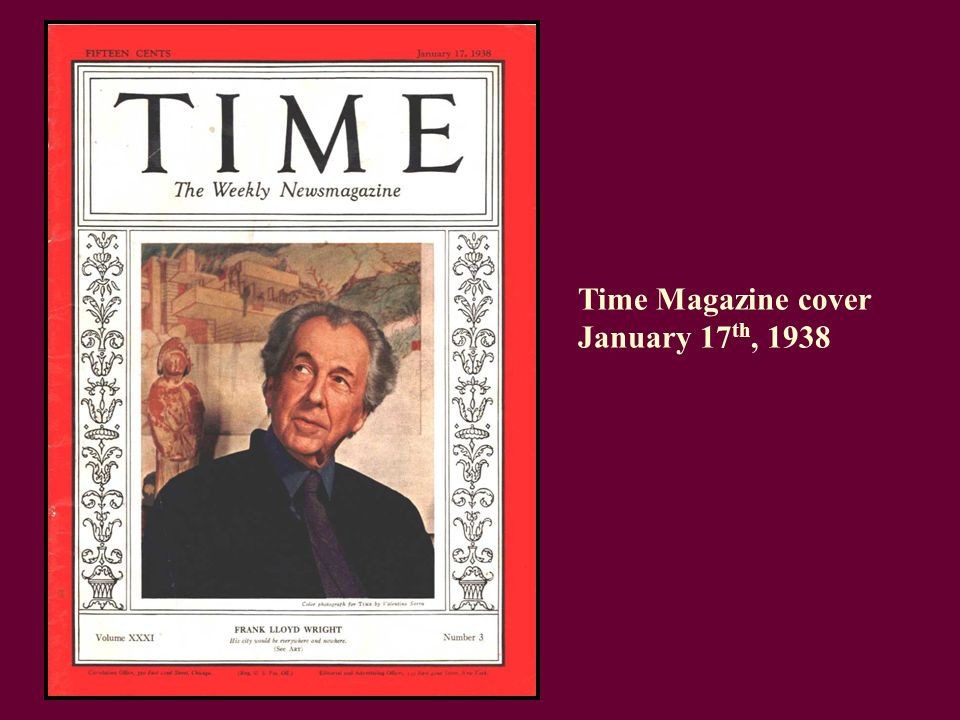 Wright on the cover of Time magazine. Image source: slide player.com