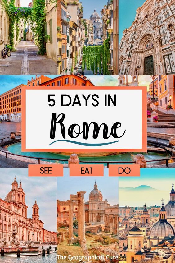 Perfect 5 Day Itinerary for Rome Italy