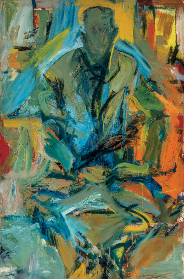 Elaine de Kooning, Bill at St. Mark's, 1956, a portrait of her husband and painter Williem de Kooning