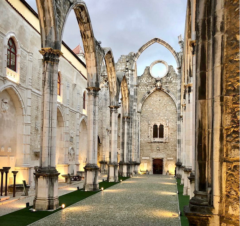 the ruins of Carno Convent in Lisbon