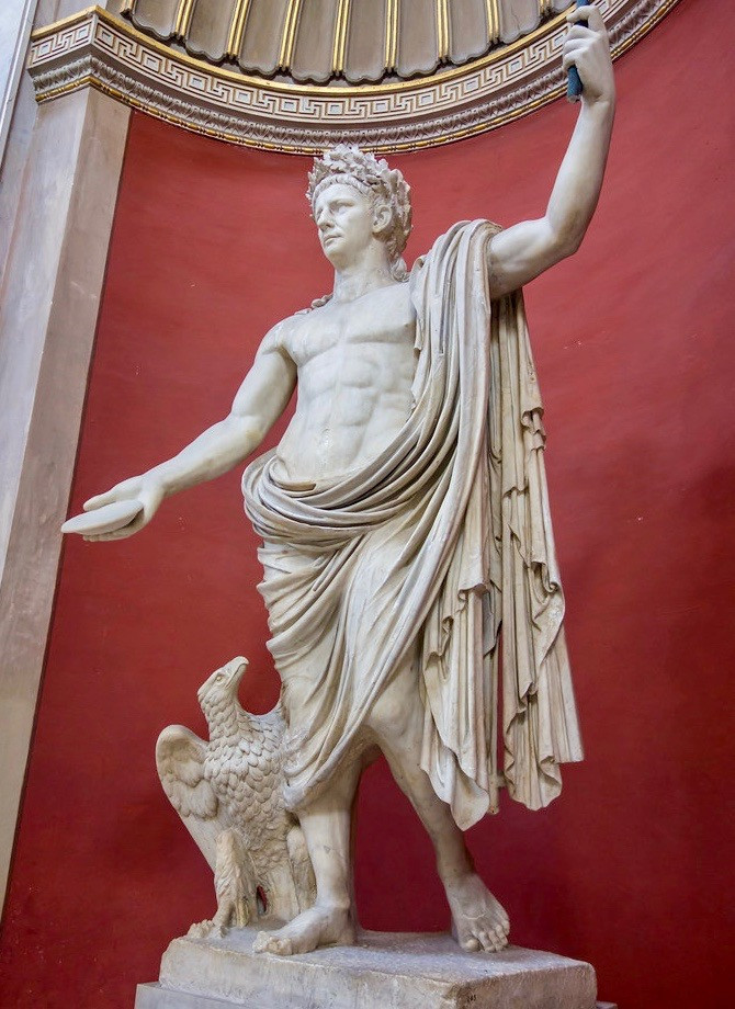 statue of Julius Caesar in the Round Hall of the Vatican Museums