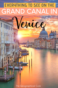 Everything To See on the Grand Canal in Venice Italy