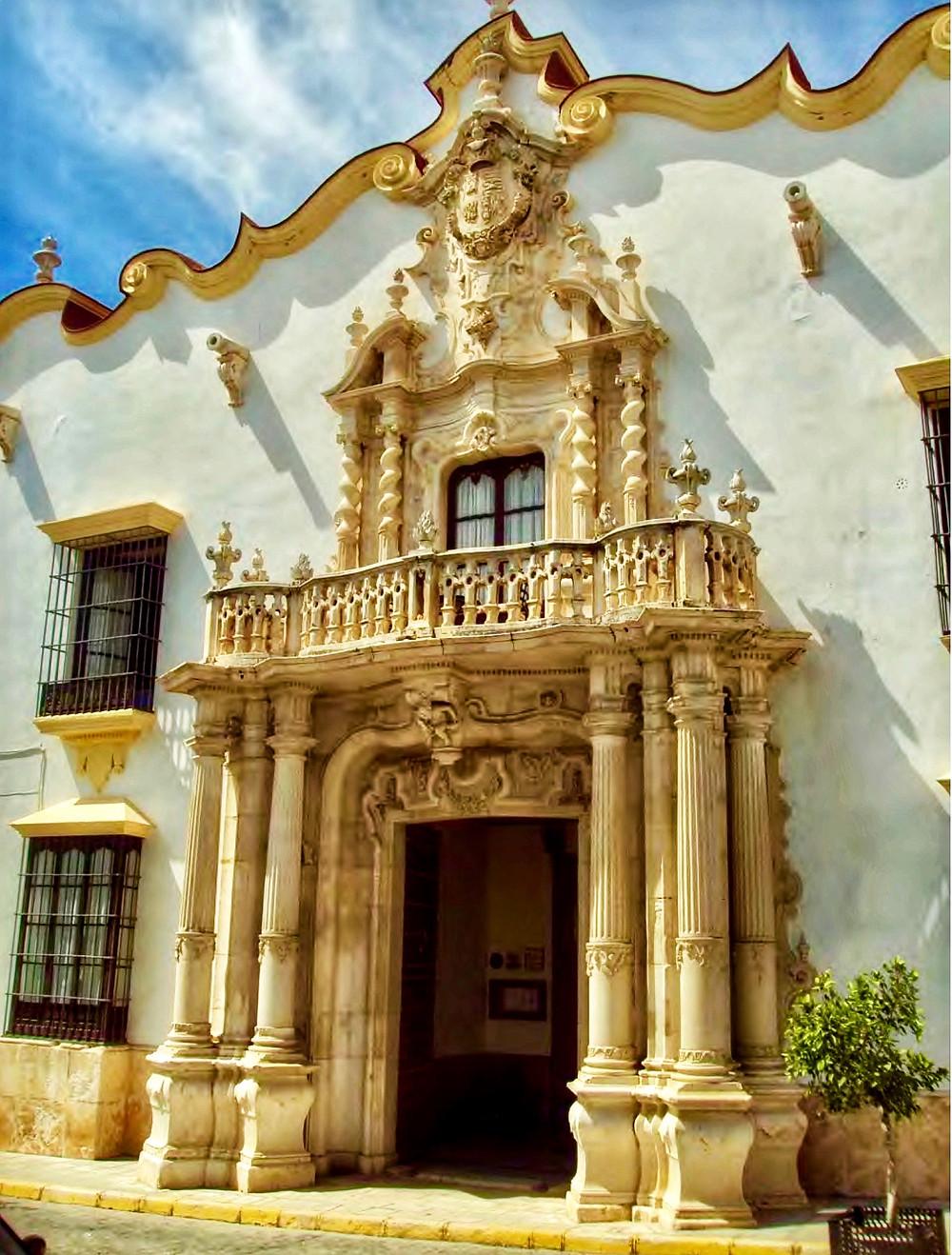 the Baroque Palacio de Marquera de Gomera Hotel in Osuna Spain