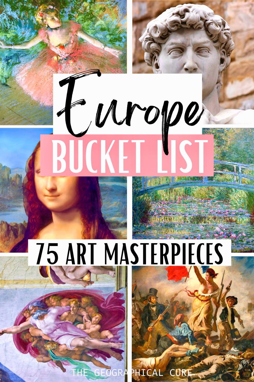 Europe art bucket list