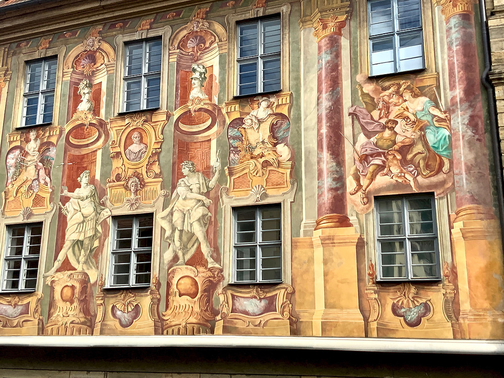 frescos on the Town Hall