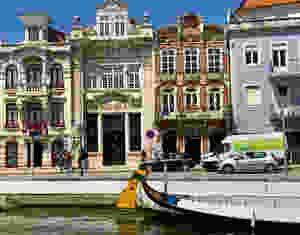 Art Nouveau buildings in Aveiro Portugal